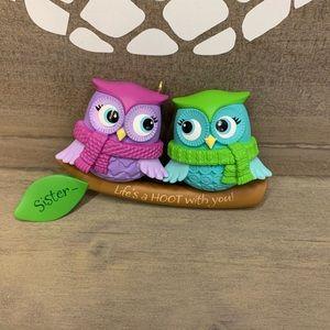 Hallmark Owl Sister Ornament